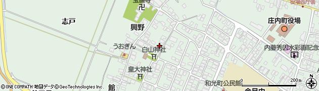 山形県東田川郡庄内町余目興野12周辺の地図