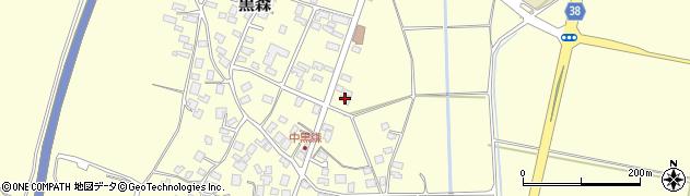 山形県酒田市黒森草刈谷地44周辺の地図