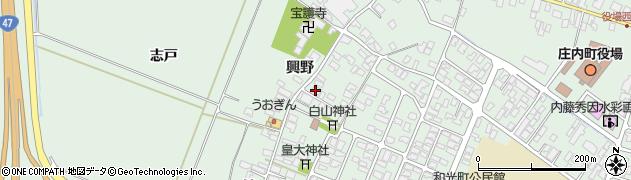 山形県東田川郡庄内町余目興野10周辺の地図