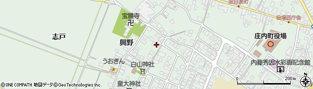 山形県東田川郡庄内町余目興野15周辺の地図