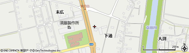 山形県酒田市広野下通225周辺の地図