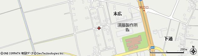 山形県酒田市広野末広周辺の地図