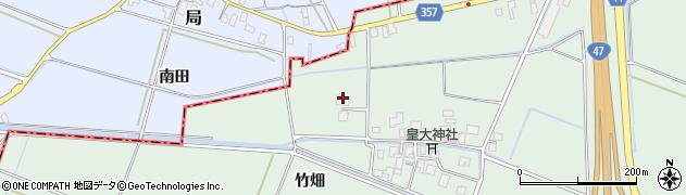 山形県東田川郡庄内町余目竹畑46周辺の地図