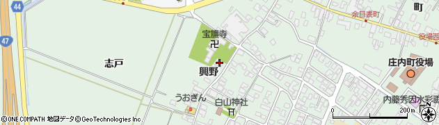 山形県東田川郡庄内町余目興野49周辺の地図