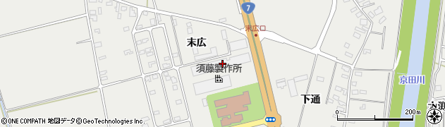 山形県酒田市広野末広100周辺の地図