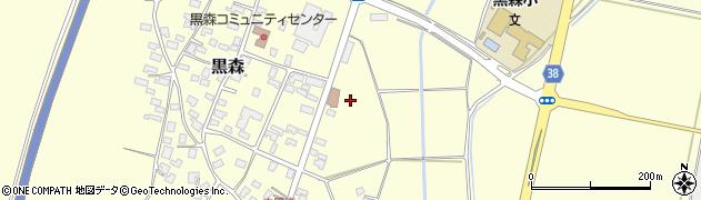 山形県酒田市黒森周辺の地図