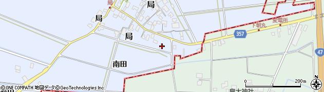山形県酒田市局南田24周辺の地図