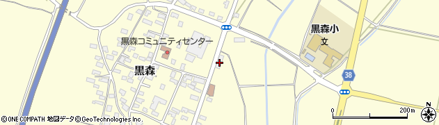 山形県酒田市黒森草刈谷地176周辺の地図