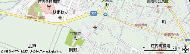 山形県東田川郡庄内町余目興野38周辺の地図