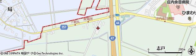 山形県東田川郡庄内町余目竹畑周辺の地図