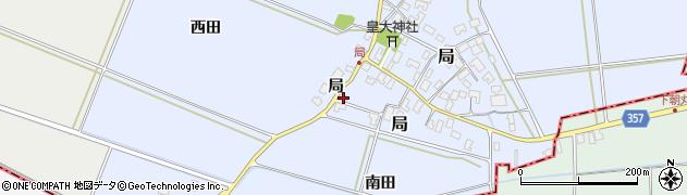 山形県酒田市局南田56周辺の地図