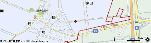 山形県酒田市局(東田)周辺の地図