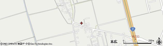 山形県酒田市広野上中村34周辺の地図