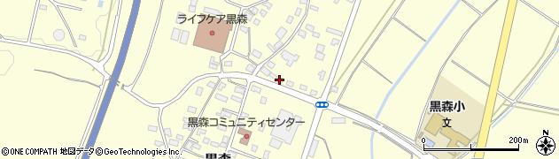 山形県酒田市黒森谷地中2周辺の地図