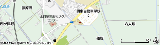 山形県東田川郡庄内町余目船塚周辺の地図