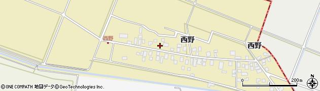山形県東田川郡庄内町西野西野105周辺の地図