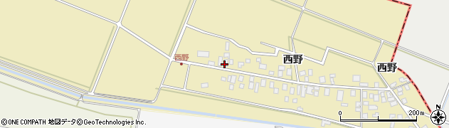 山形県東田川郡庄内町西野西野115周辺の地図