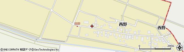 山形県東田川郡庄内町西野西野123周辺の地図