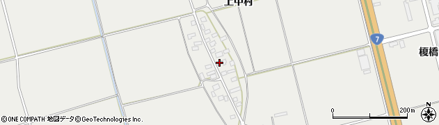山形県酒田市広野上中村73周辺の地図