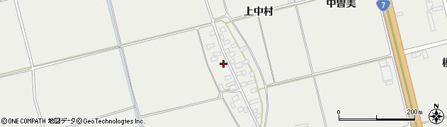 山形県酒田市広野上中村115周辺の地図