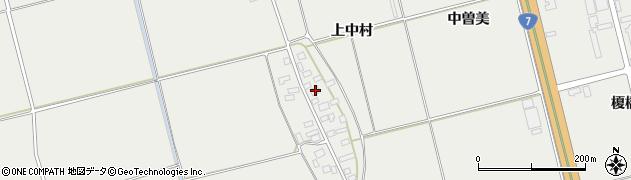 山形県酒田市広野上中村70周辺の地図