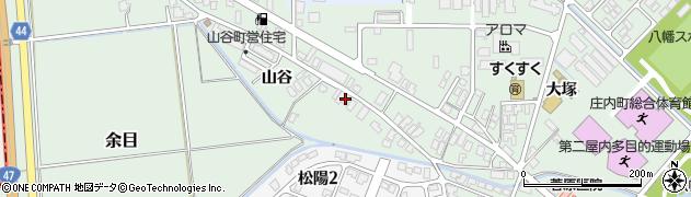 山形県東田川郡庄内町余目山谷47周辺の地図