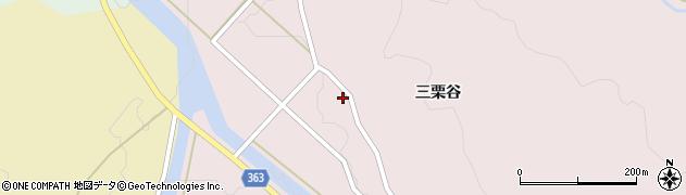 山形県酒田市山元三栗谷23周辺の地図
