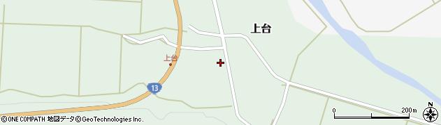 山形県最上郡金山町上台121周辺の地図