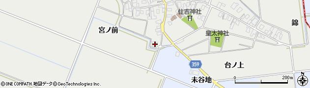 山形県酒田市門田(宮ノ前)周辺の地図