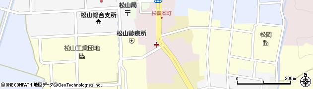 山形県酒田市本町周辺の地図
