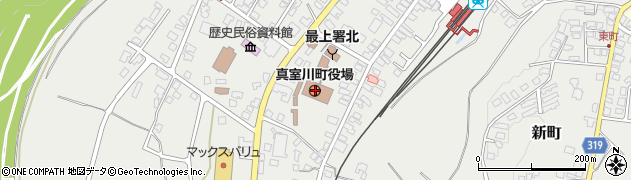 山形県最上郡真室川町周辺の地図