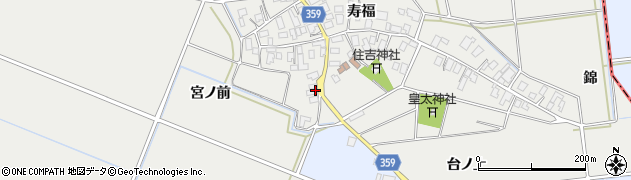 山形県酒田市門田宮ノ前3周辺の地図