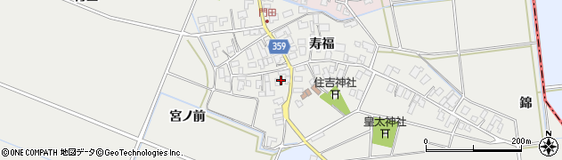 山形県酒田市門田寿福116周辺の地図