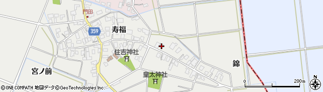 山形県酒田市門田寿福30周辺の地図