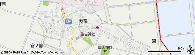 山形県酒田市門田寿福71周辺の地図