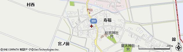 山形県酒田市門田寿福115周辺の地図