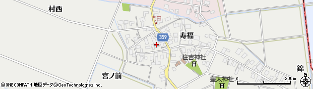 山形県酒田市門田寿福136周辺の地図