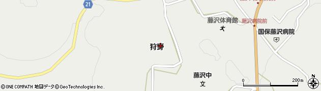 岩手県一関市藤沢町藤沢(狩野)周辺の地図