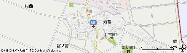 山形県酒田市門田寿福141周辺の地図