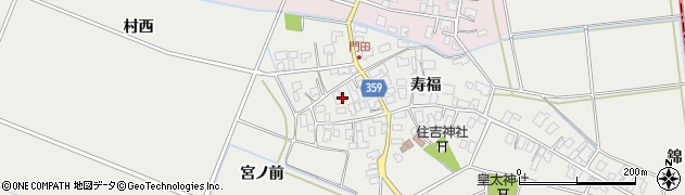 山形県酒田市門田寿福144周辺の地図