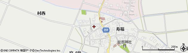 山形県酒田市門田寿福209周辺の地図