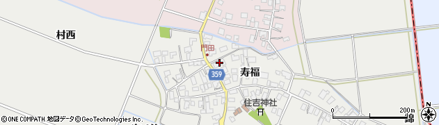 山形県酒田市門田寿福102周辺の地図