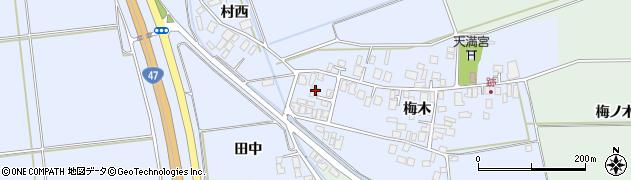 山形県東田川郡庄内町跡梅木42周辺の地図