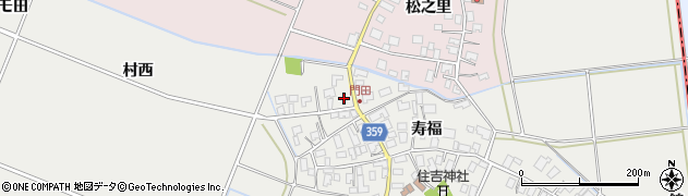 山形県酒田市門田寿福168周辺の地図