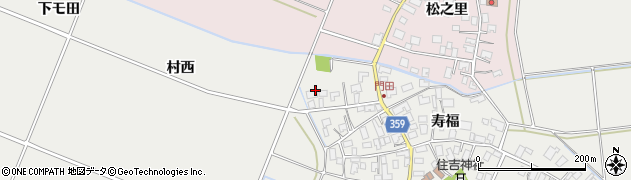 山形県酒田市門田寿福157周辺の地図
