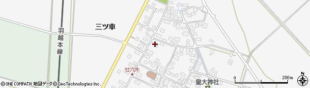 山形県東田川郡庄内町廿六木三ツ車76周辺の地図