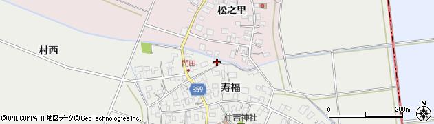 山形県酒田市門田寿福97周辺の地図