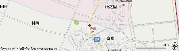 山形県酒田市門田寿福195周辺の地図