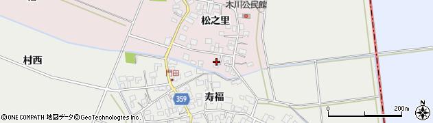 山形県酒田市木川松之里31周辺の地図