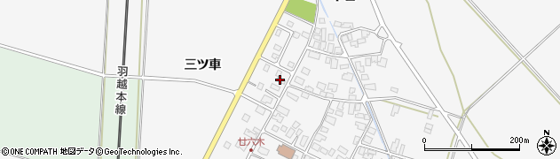山形県東田川郡庄内町廿六木三ツ車128周辺の地図